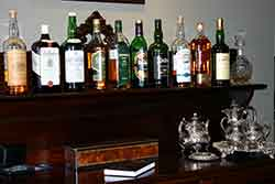 A range of beverages for pre dinner drinks are included in the price of your stay