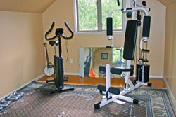 Private gym available to our guests